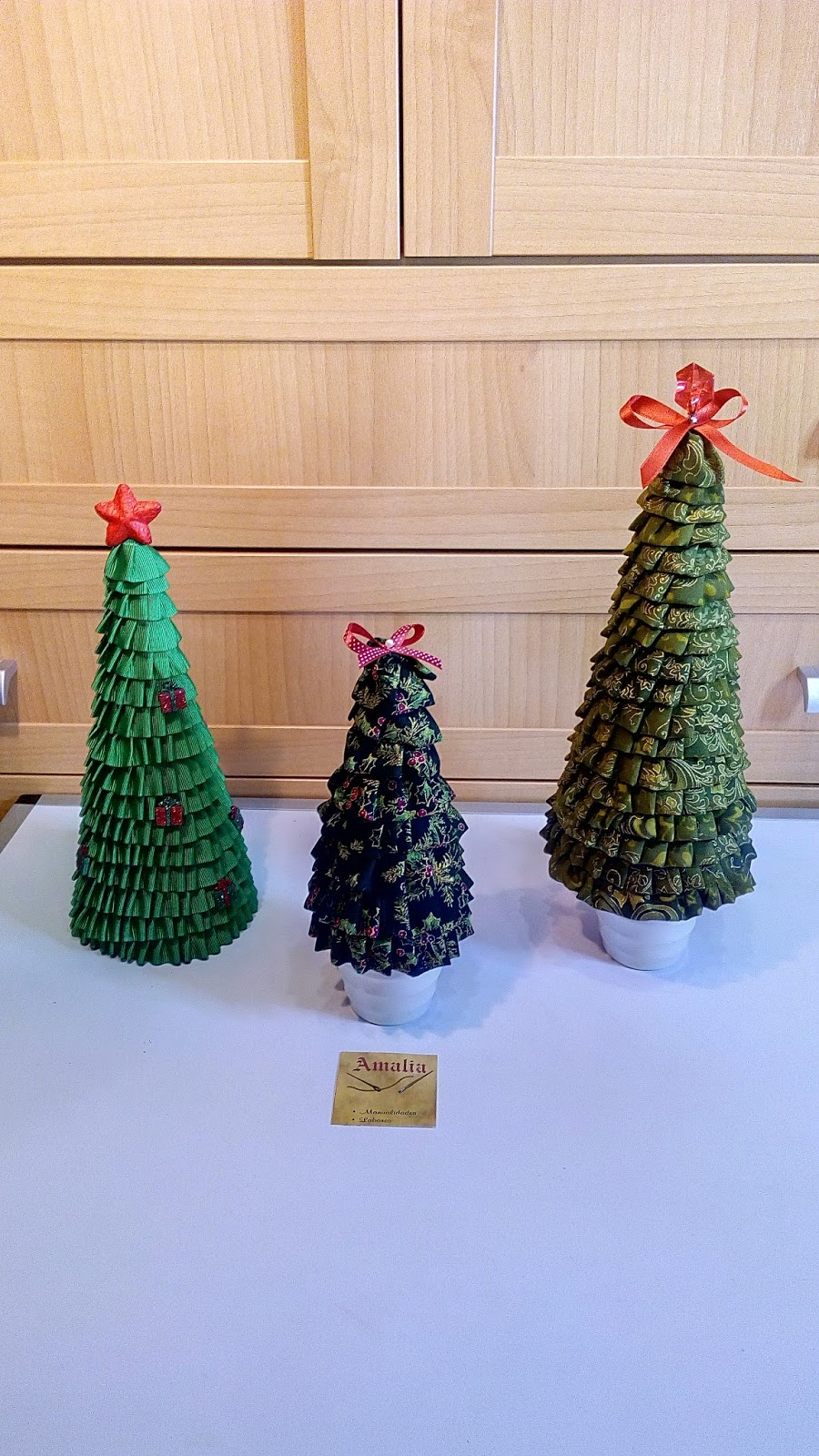 cmo hacer rbol de navidad de tela plisada - Arbol De Navidad De Tela