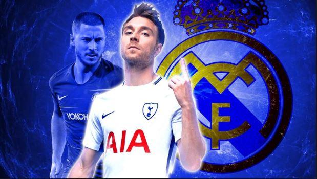 Real Madrid prepare £100m Eden Hazard and Christian Eriksen bid - but there's a twist