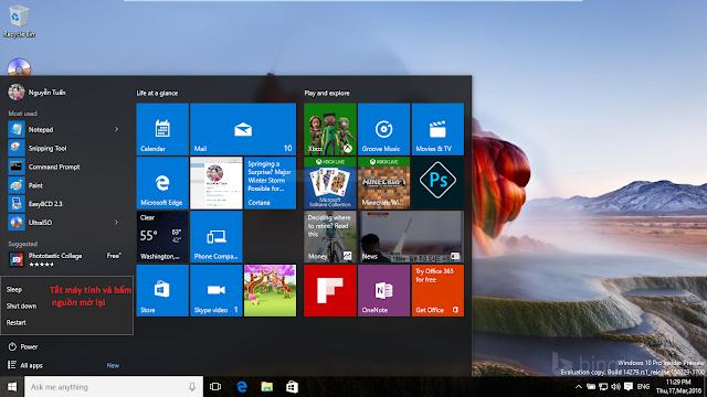 Phục hồi hệ thống Windows 10 bằng cách sử dụng system image files