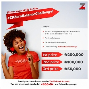 JOIN ZENITH BANK TO WIN