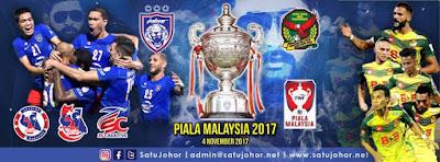 Keputusan Terkini Final Piala Malaysia 2017 JDT vs Kedah