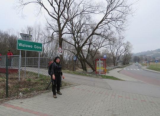 Przed mostkiem nad Łososiną.