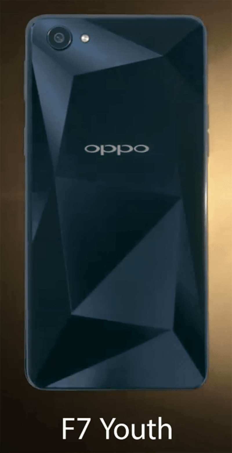 OPPO F7 Youth with Diamond Black color teased!