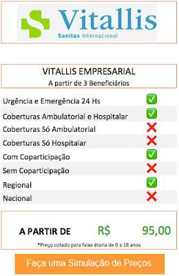 Planos de Saúde Empresarial Vitallis
