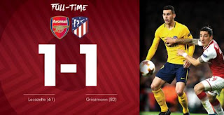 Arsenal vs Atletico Madrid 1-1 Video Gol Highlights