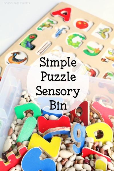 sensory bin for kids