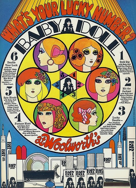 1960s make-up pop art illustration