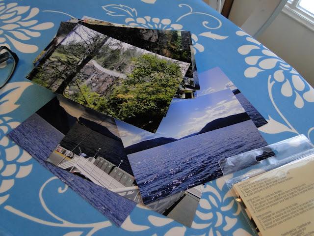 photos to be put into a scrapbook