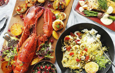 sea food and fish for healthy and beautiful skin