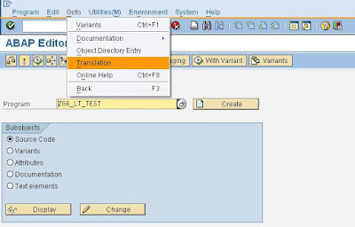 Language Translation Tool for SAP Technical Objects