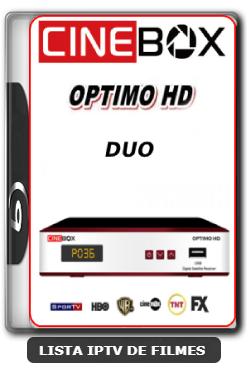 Cinebox Optimo HD Duo Nova Atualização Satélite SKS Keys 61w ON - 29-03-2020