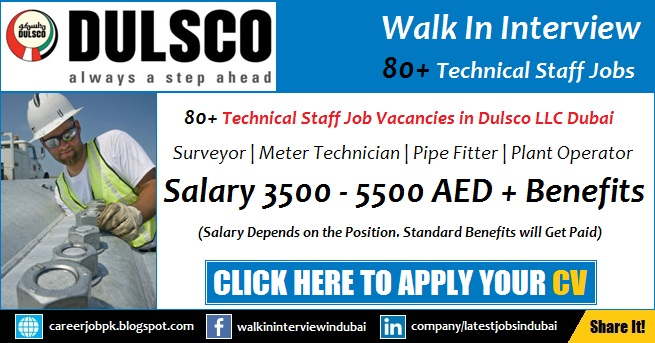 Dulsco Careers and Jobs in Dubai Walk in Interview | www.dulsco.com