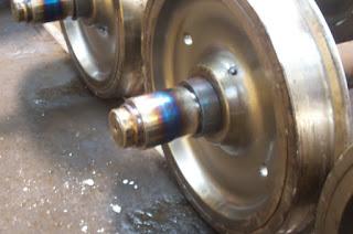 keping roda baru yang terpasang