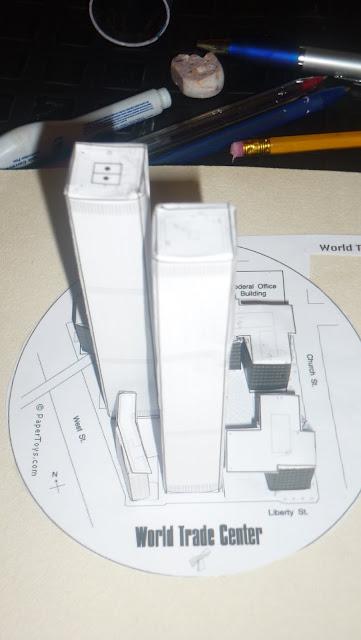 maqueta world trade center de new york maqueta torres gemelas página papertoys