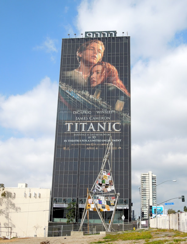 Titanic 3D movie billboard Sunset Strip