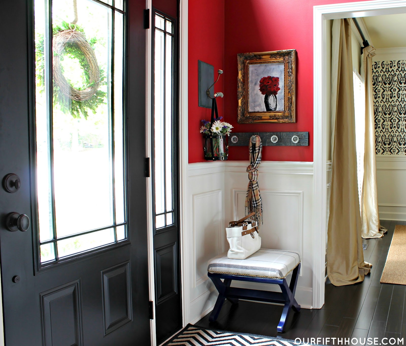 White Interior Front Door speaking of black interior doors. - our fifth house