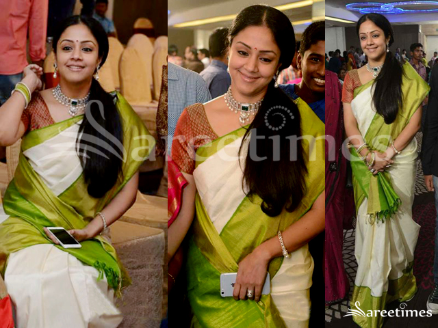 Jyothika In Sr Prabhu S Wedding Reception