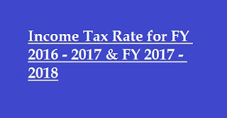 Income Tax Rate for 2017-2018 and 2016-2017