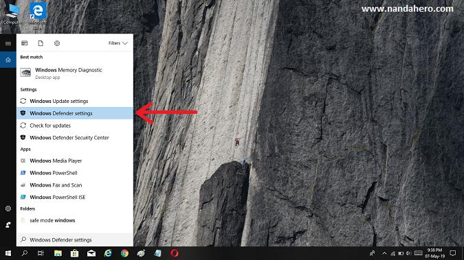 cara mematikan windows defender terbaru