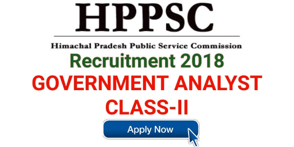 Deputy Government Analyst, Class-II Job at HPPSC