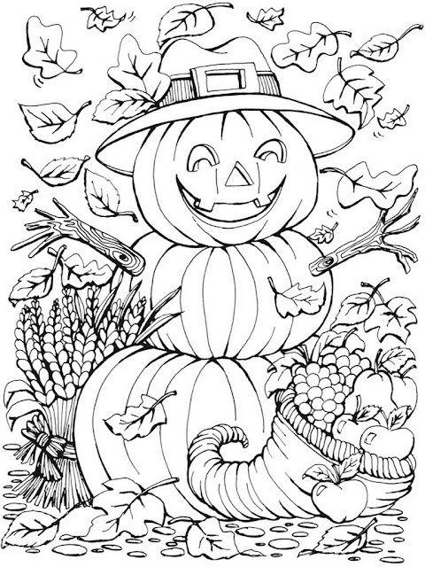 autumn scenes coloring book sample 06