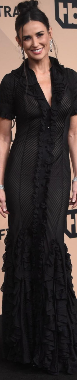 Demi Moore wearing Zac Posen 2016 SAG Awards