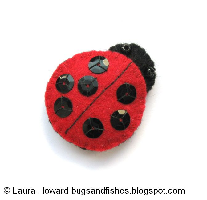 Bugs And Fishes By Lupin: How To: Make A Mini Felt Ladybird