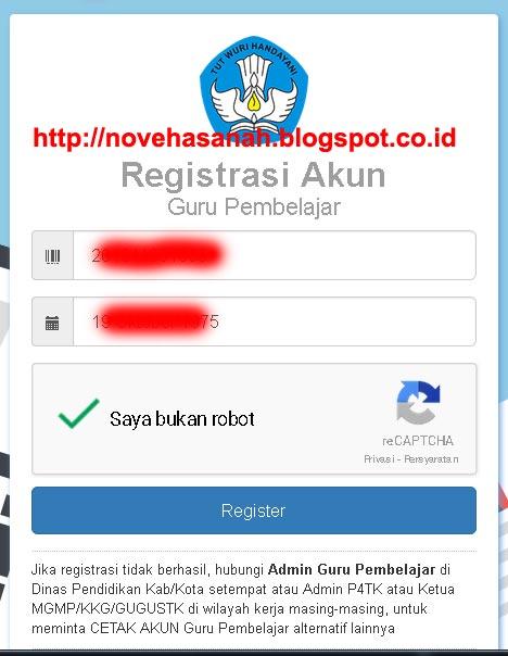pengisian formulir registrasi guru pembelajar online di kemdikbud pada cara registrasi dan login guru pembelajar online kemdikbud 3