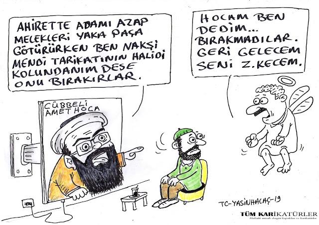 cübbeli ahmet karikatürü