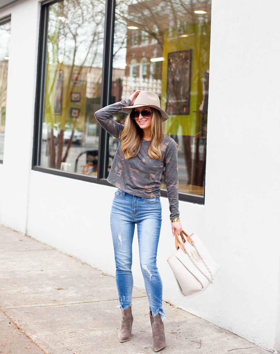 nordstrom bp. camo long sleeve tee
