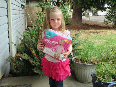 Potty Training With #PampersEasyUps Training Underwear