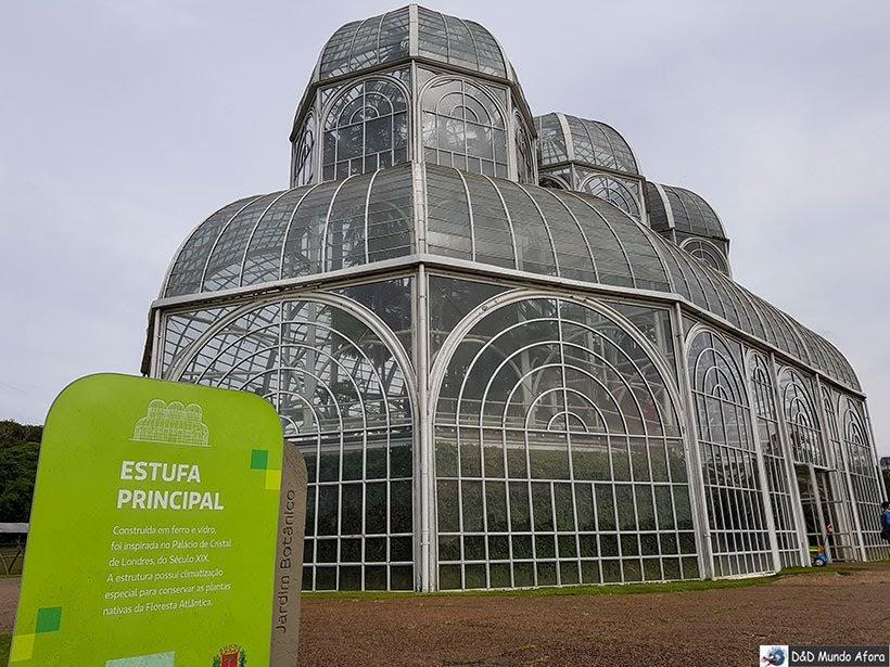 Jardim Botânico - parada do tour no ônibus da Linha Turismo de Curitiba - Encontro da RBBV