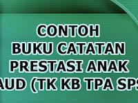 Download Contoh Buku Catatan Prestasi Anak Didik PAUD/TK