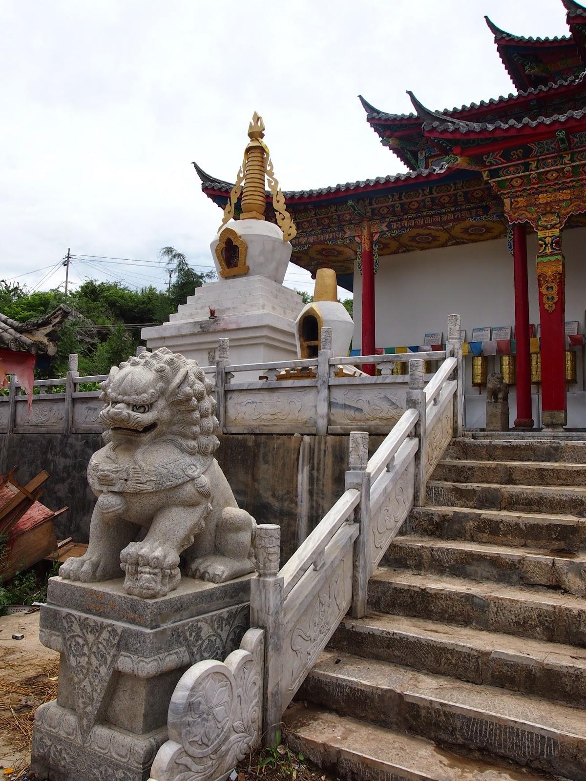A Buddhist Temple in Lugu Lake