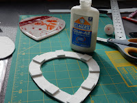 Glue the pieces in place