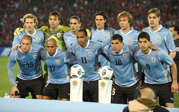 Formación de Uruguay ante Chile, Copa América 2011, 8 de julio