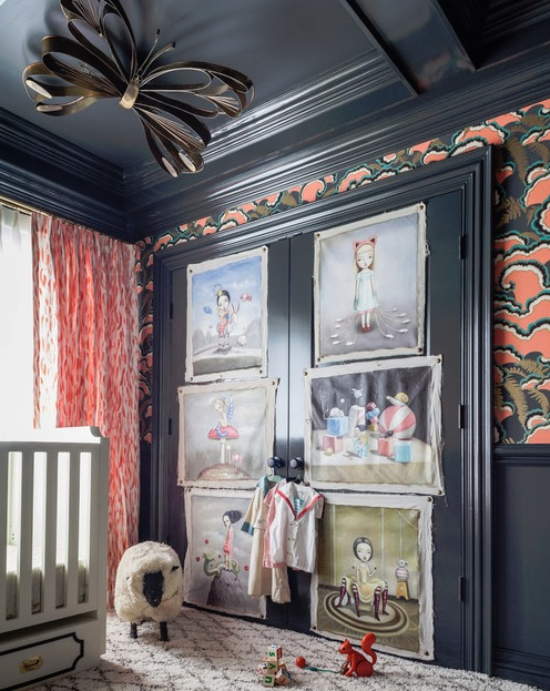 Designer Summer Thornton Used Scalamandré S Legendary Zebra Print Wallpaper In This Eclectic Nursery That Blends Vintage Hollywood Regency