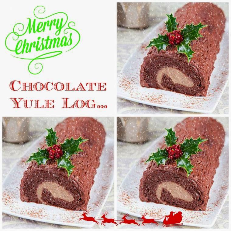 Chocolate Yule Log: Christmas Day Sweet Freedom Treat