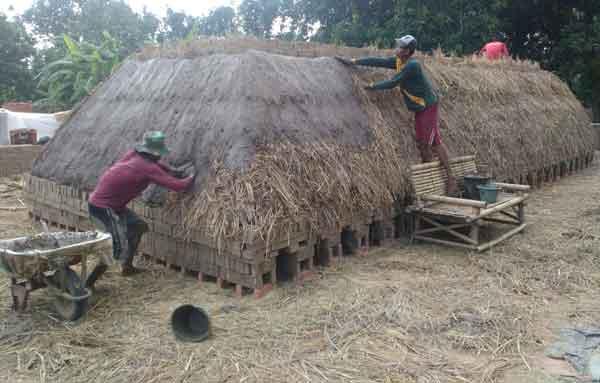 produksi bata merah majalengka terganggu musim hujan