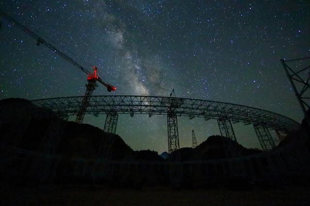 Монтаж радиотелескопа FAST