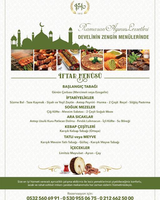 develi florya iftar menüsü 2019 florya iftar mekanları florya iftar yerleri florya iftarlık mekanlar