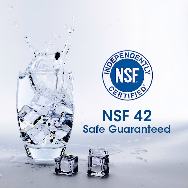 NSF 42 Make the greatest protection for your health