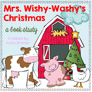 Mrs. Wishy-Washy's Christmas book study companion literacy activities, perfect for Christmas in the classroom! Packed with fun literacy ideas and guided reading activities. Common Core aligned. PreK-K #bookstudy #bookstudies #kindergarten #Christmas #christmasbooks #picturebookactivities #literacy #guidedreading #mrswishywashy #bookcompanion #bookcompanions #kindergartenreading #1stgradereading