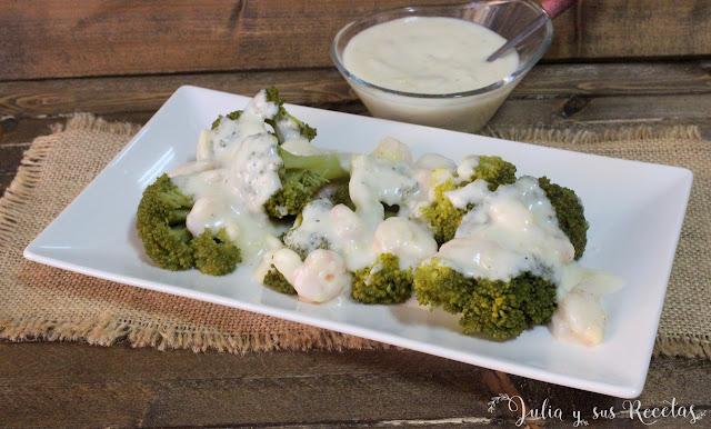 Brócoli con gambas. Julia y sus recetas