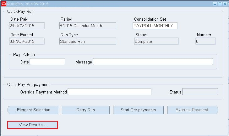Rajesh Apps Blog: Oracle Payroll Run Results