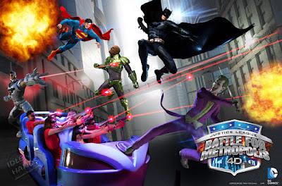 Six Flags Great Adventure DC Comics Justice League Battle for Metropolis Ride