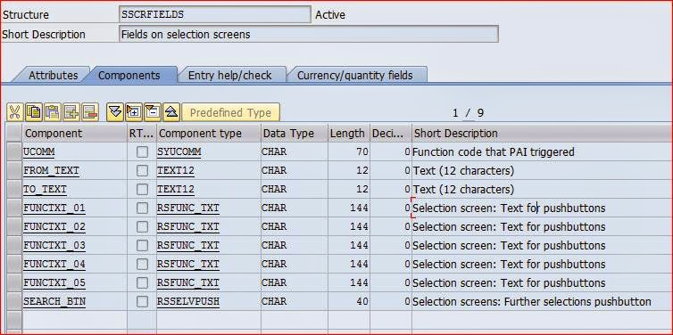 Abap object oriented selection screen