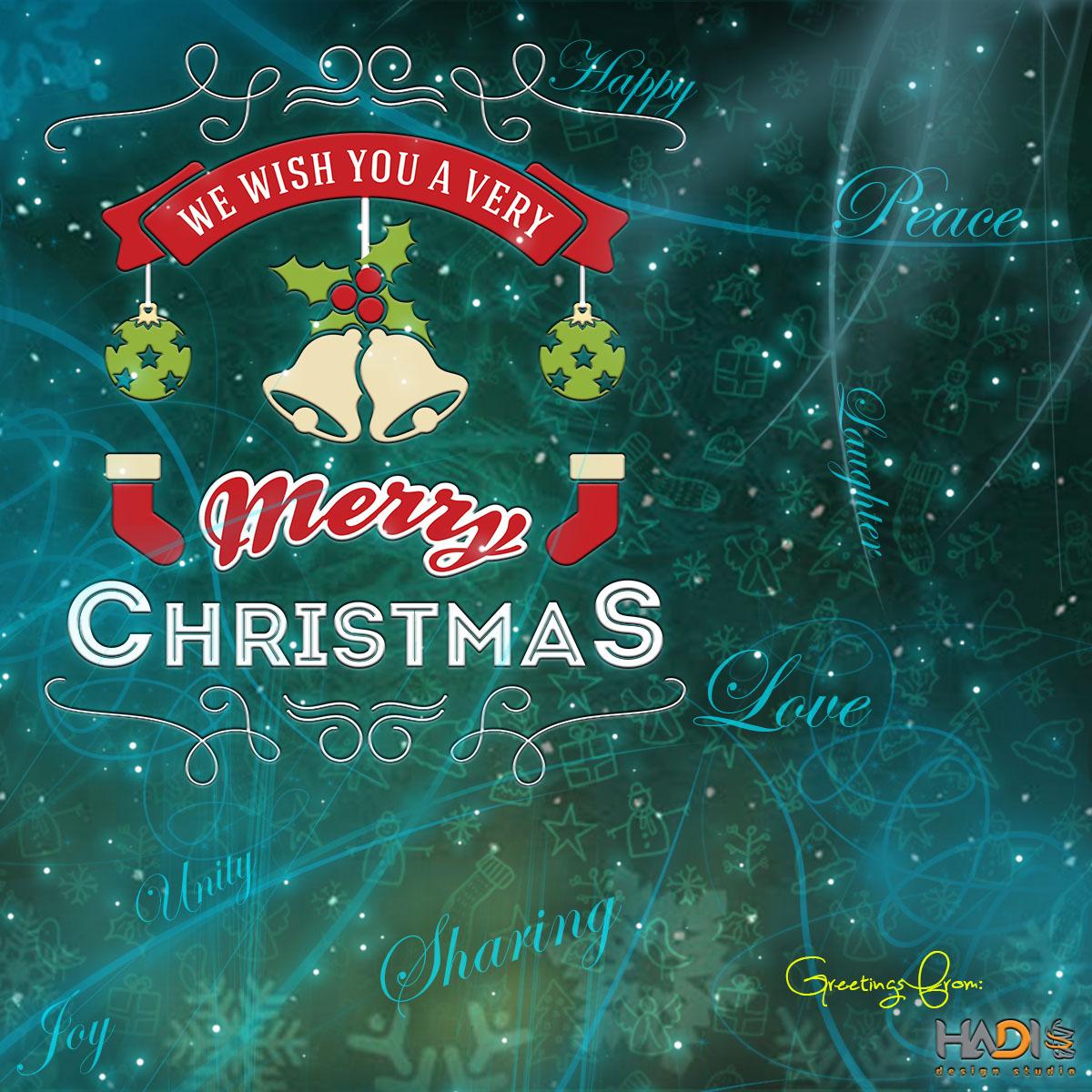 Hadi Design Studio Merry Christmas Greetings From Acme
