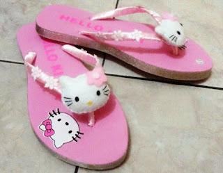 Sandal Lucu Cantik Karakter Hello Kitty