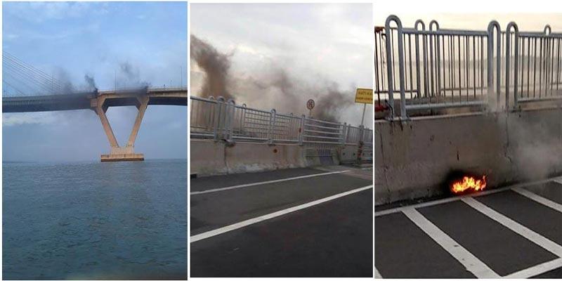 Jembatan Suramadu Terbakar
